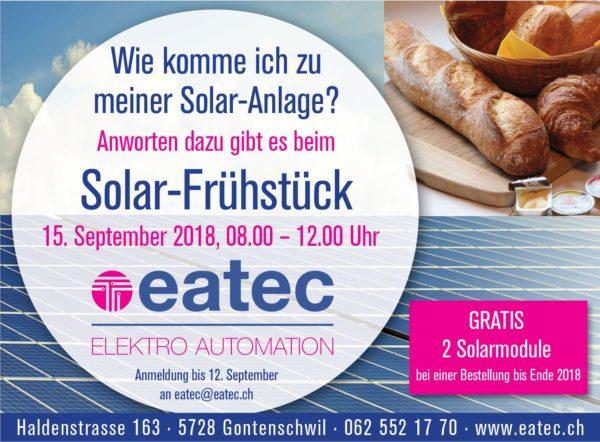 Werbung Solarfrühstück